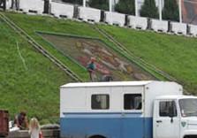 клумба логотип евро-2012 харьков