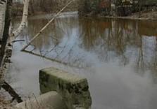 сток, река, канализация