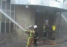 мчсники тушат пожар в пятихатках