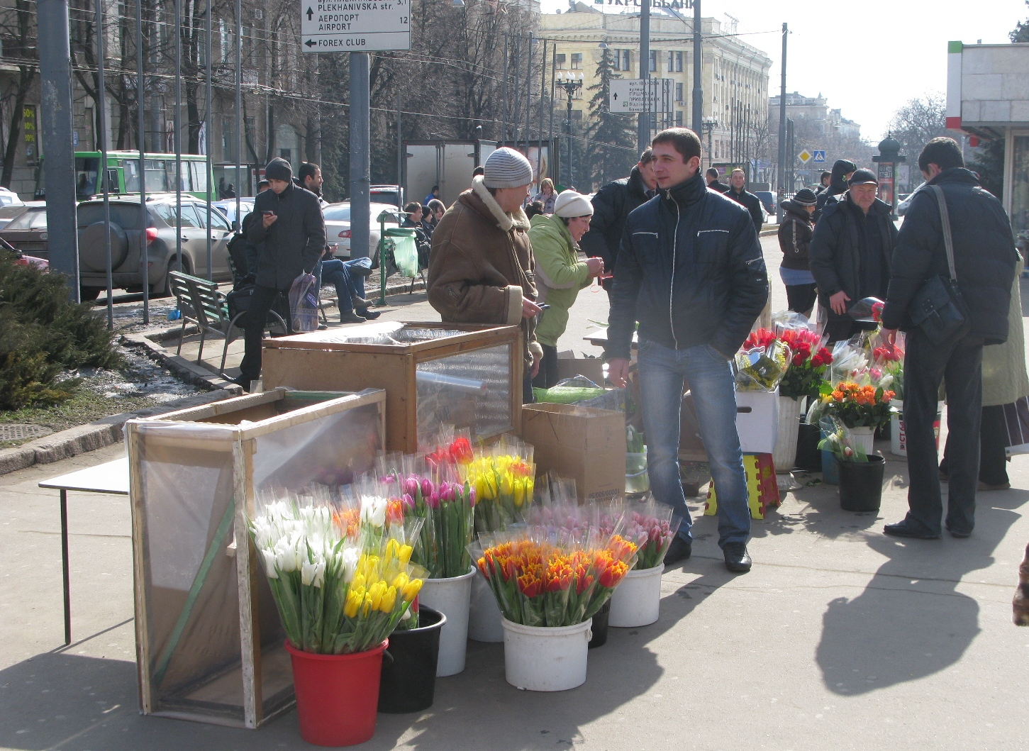 Как продавать цветы на улице на 8 марта заказать девушке цветы на дом