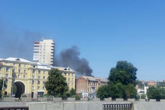 В центре Харькова произошел пожар (ФОТО), фото-1