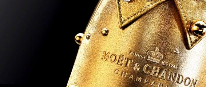 Драгоценные бутылки шампанского Moet et Chandon выставлены на аукцион