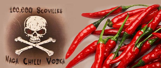 """Компания """"Masters of Malt"""" (Шотландия) выпустила новый вид перченной водки под названием """"100000 Scovilles - Naga Chilli Vodka"""". Этот напиток настоен на перце Нага Д"""