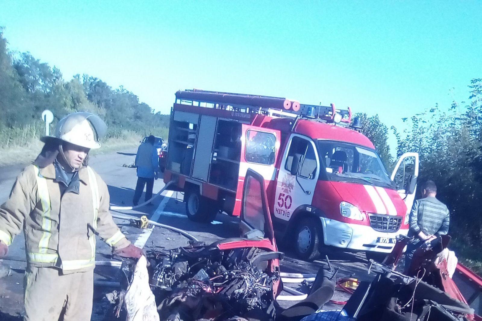 ВХарьковской области авто столкнулось срейсовым автобусом: погибли два человека