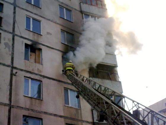 ВРостове вмногоэтажке наДнепровском произошел пожар