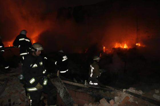 Наодном изчастных учреждений Харькова произошел интенсивный пожар