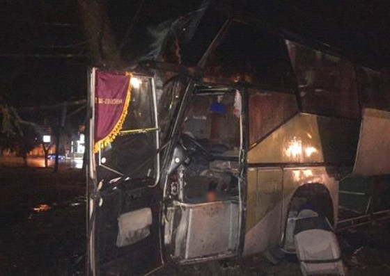 ВБогодухове с дороги слетел рейсовый автобус— шофёр умер