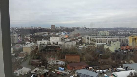 ВХарькове в помещении бывшей макаронной фабрики произошел пожар