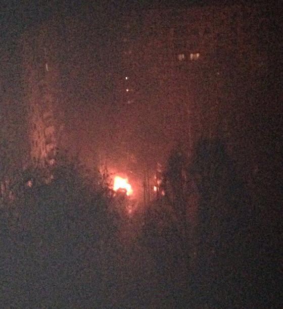 Неизвестные взорвали автомобиль на Салтовке (ФОТО)