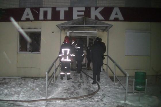 НаСалтовке сгорела аптека сети «9-1-1»