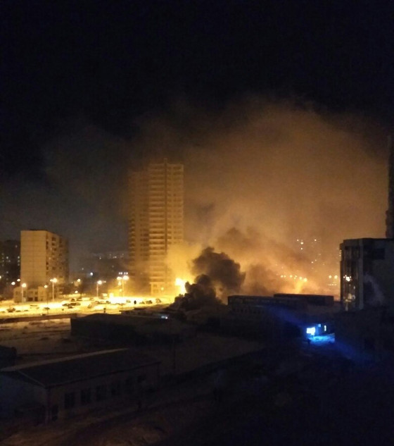 В Харькове горел рынок (ФОТО)