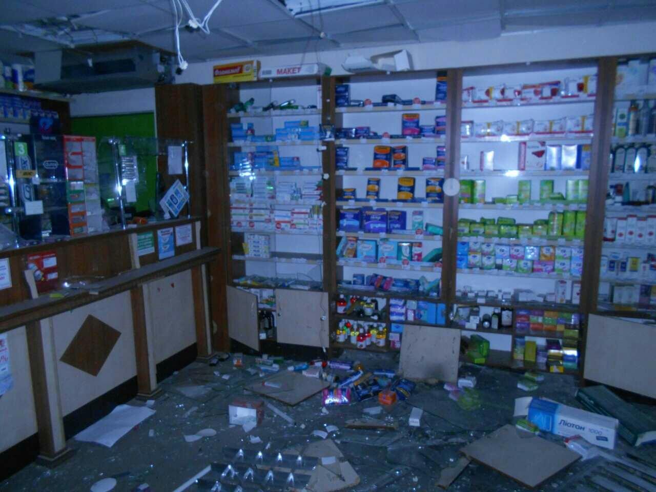 ВХарькове ранним утром бросили гранату ваптеку