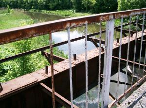 Старый мост через Лопань на Ивановку