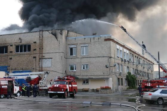 Масштабный пожар вХарькове: горит производственное помещение