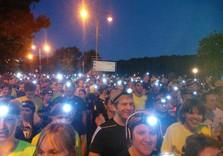 ночной бег с фонариками
