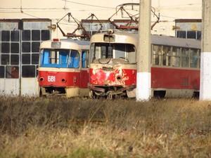 В Харькове произошла авария с участием двух трамвае